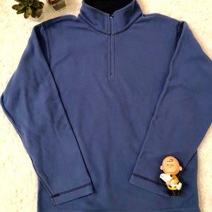 Lands End Blue Fleece Half Zipper Pullover Boys